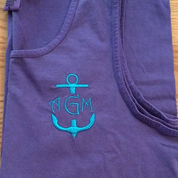 Anchor Monogrammed Comfort Colors Tank