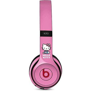 Hello Kitty Beats Solo 2 Wireless Skin _ Hello Kitty Sitting Pink Vinyl Decal Skin For Your Beats Solo 2 Wireless