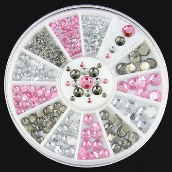Multicolor Various Sizes Rhinestones DIY Nail Art Decoration