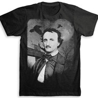Edgar Allan Poe T Shirt - Tri-Blend Vintage Fashion - Graphic Tees for Men & Women