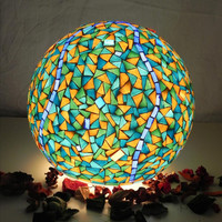 Blue mosque   mosaic table lamp by mooz on Etsy