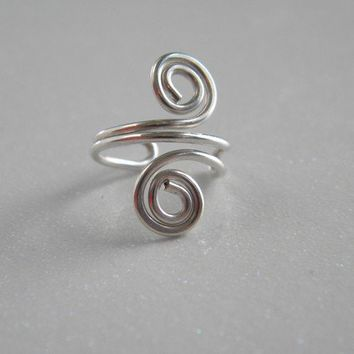 Recycled Sterling Silver Ear Cuff Simple Swirl by MartiniJewels