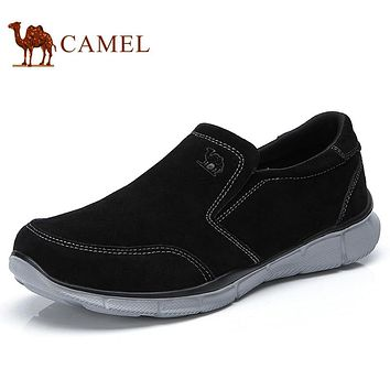 CAMEL New Slip-on Outdoor Men Casual Shoes Suede Lightweight Walking Flexible Comfortable Daily Male Shoe zapatos mocasin hombre