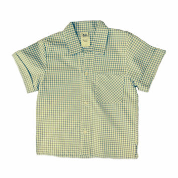 FATHER AND SON MATCHING BLUE AND WHITE GINGHAM SHIRT by ABY'S KIDS