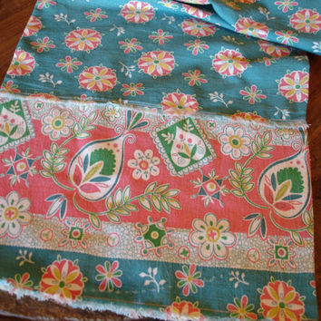 Vintage Feedsack Table Runner Shabby Chic by KaysGeneralStore