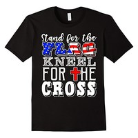 Stand For The Flag Kneel For The Cross Veterans Patriot Tee