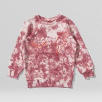 NATIONAL BLUSH TYE DYE CREW