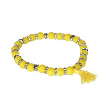 Stephan and Co. Juniors Neon Beaded Bracelet with Tassel at Von Maur