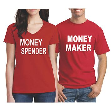 Matching Couples Mr and Mrs Husband and Wife Shirts