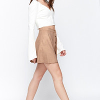 Sorority Chic Faux Suede Skater Skirt