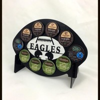 Philadelphia Eagles Football 10 K Cup Holder and Coffee Pod Display