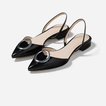 FLAT SHOES WITH DETAIL - Flats-SHOES-WOMAN | ZARA United States