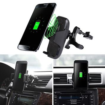 Car-charger Mount Wireless Charger Vehicle Dock Charging Stand Dock  usb Charger for Samsung Galaxy S8 / S8 Plus#25