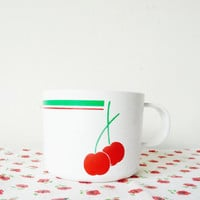 vintage plastic cherry tea cups . set of 4 . camping . picnic .  outdoor .  summer garden party . etsy uk