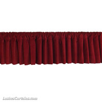 Luxurious 1pc Custom Made Wide Modern Home Decorative Burgundy Rod Pocket Curtain Topper Velvet Window Valance Panel Drapery Treatments