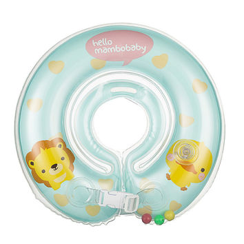 Baby Neck Float Swimming Newborn Baby Swimming Neck Ring with Pump Gift  Mattress Cartoon Pool Swim ring for 0-24month Baby