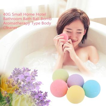40G Small Size Home Hotel Bathroom Bath Ball Bomb Aromatherapy Type Body Cleaner Handmade Bath Bombs Gift Top quality