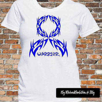 Warrior Shirts For Colon Cancer, Rectal Cancer, Ankylosing Spondylitis, Dysautonomia, Erb's Palsy, Histiocytosis snd More