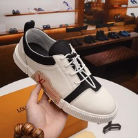 LV Men Women Casual Shoes Boots  fashionable casual leather Heels Sandal Shoes