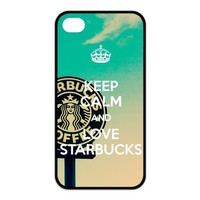 Custom Your Own Starbucks Coffee Seatle Latte Silicon iPhone 4/4S Case , Special Designer Starbucks iPhone 4/4S Case