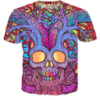 Trippy Skull Tree T-shirt