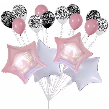 PINK PARTY BALLOONS- Pink Star Birthday Balloons| Pink Baby Shower Balloons |Star Foil Balloons | Pink Balloons | Gender Reveal Balloons
