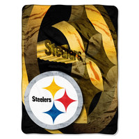 Pittsburgh Steelers NFL Micro Raschel Blanket (Bevel Series) (80x60)