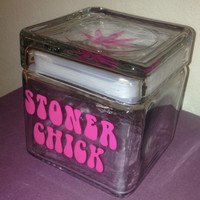 Stoner Chick Series Large Marijuana Cannabis Stash Jar