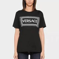 Versace Women Short Sleeve Bowknot Top