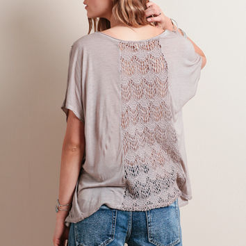 Mimosas Lace Detail Top By Black Swan