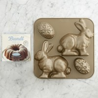 Nordic Ware Easter Bunny Bundt® Cake Pan with Egg & Williams-Sonoma Vanilla Bundt Cake Mix