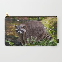 Raccoon at the water Carry-All Pouch by Pirmin Nohr