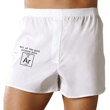 All of the Good Science Puns Argon Boxer Shorts