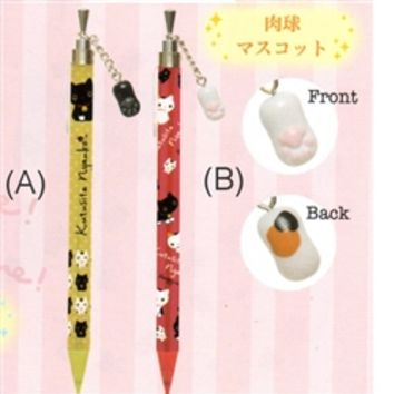 San-X Kutusita Nyanko Lucky Cat Mechanical Pencils with Dangly Charms