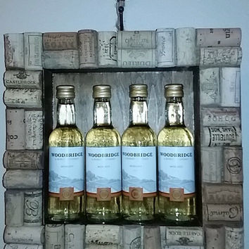 Shadowbox Wine Cork Decor