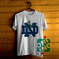 Notre Dame Fighting Irish Logo Tshirt For Men / Women Shirt Color Tees