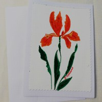Set of 2  Hand Painted Greeting Card, 5