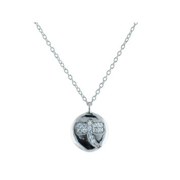 Fronay Dragonfly Necklace in Sterling Silver: Length 15.5 Inches - 17 Inches