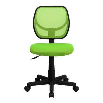 Flash Furniture WA-3074-GN-GG Mid-Back Green Mesh Task and Computer Chair