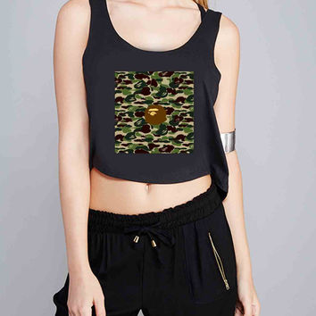 Bape Bathing Ape Camo for Crop Tank Girls S, M, L, XL, XXL *NP*