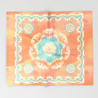 Vintage Floral Fantasy Throw Blanket by Octavia Soldani | Society6