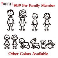 Custom Family Member Viny Decal Car Stick Figure  DIY Adhesive Window Car Stickers Waterproof Auto Sticker