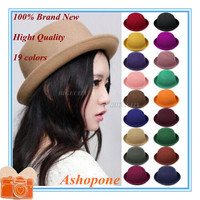 Vintage Women Lady Hats Cute Trendy Wool Felt 19 colors
