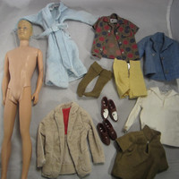 Vintage 60s Blond Crew Cut Ken Doll Japan with Original Tagged Clothes