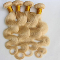 Lustrous Blonde Brazilian Body Wave 3 Bundles Blonde