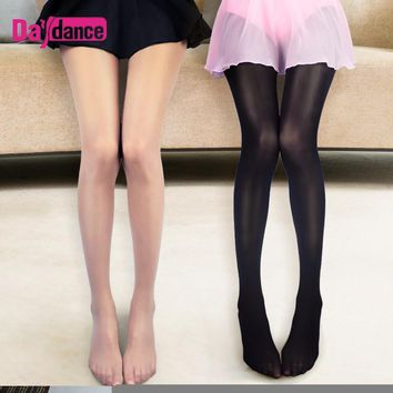 Nude Glossy Glitter Stockings Women High Elastic Pantyhose Oil Shiny Latin Dance Tights 70D