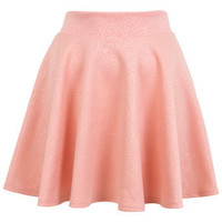 Paisley Embossed Skater Skirt - Skirts  - Apparel