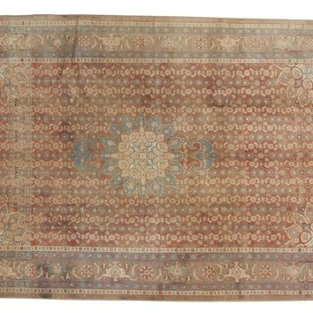 6.5x10 Vintage Distressed Bijar Carpet