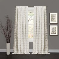 Lush Decor C15209P13-000 Emma Ivory 84 x 50-Inch Window Curtain Single Panel