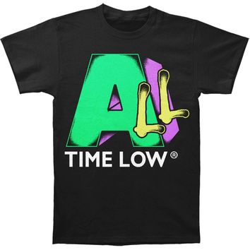 All Time Low Men's  All TV Slim Fit T-shirt Black